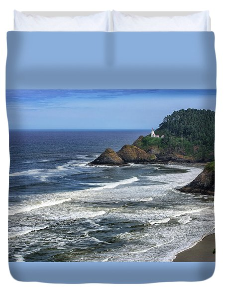 Haceta Lighthouse Duvet Cover