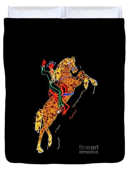 Hacienda Horse And Rider Duvet Cover
