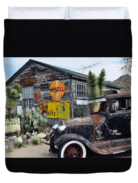 Hackberry Route 66 Auto Duvet Cover by Kyle Hanson
