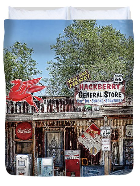 Hackberry General Store On Route 66, Arizona Duvet Cover