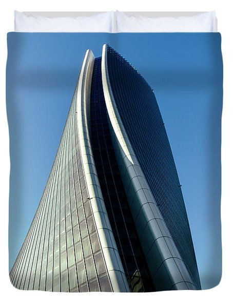 Hadid Tower, Milan, Italy Duvet Cover