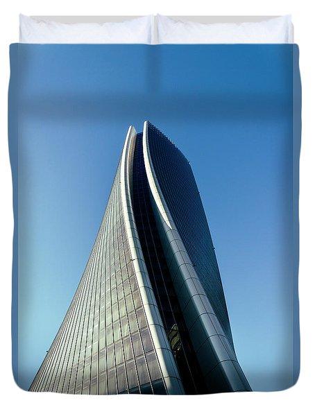 Hadid Tower, Milan, Italy Duvet Cover