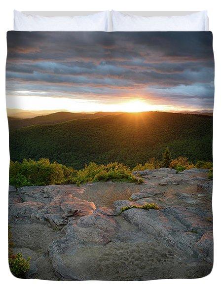 Hadley Mountain Sunset Duvet Cover