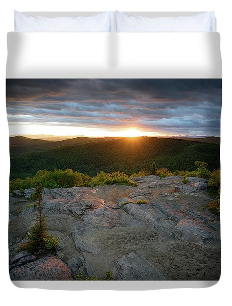 Hadley Mountain Sunset Duvet Cover