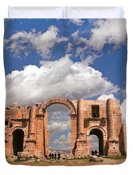 Hadrian's Arch, Jerash Duvet Cover