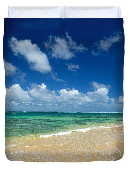 Haena Beach Duvet Cover by Greg Vaughn - Printscapes