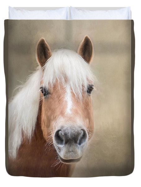 Duvet Cover featuring the photograph Haflinger by Robin-Lee Vieira