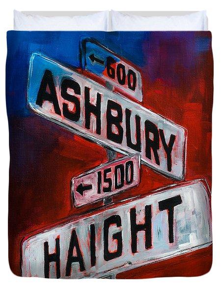 Haight And Ashbury Duvet Cover