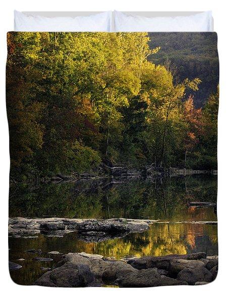 Hailstone Sunrise Fall Color 2012 Duvet Cover by Michael Dougherty