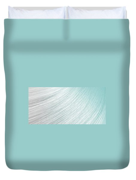 Hair Blowing Closeup Duvet Cover