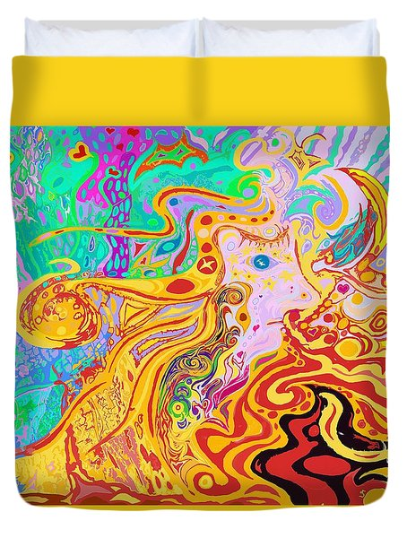 Hair Of The Divine Universe Duvet Cover