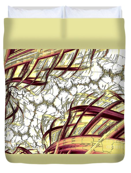 Hairline Fracture Duvet Cover