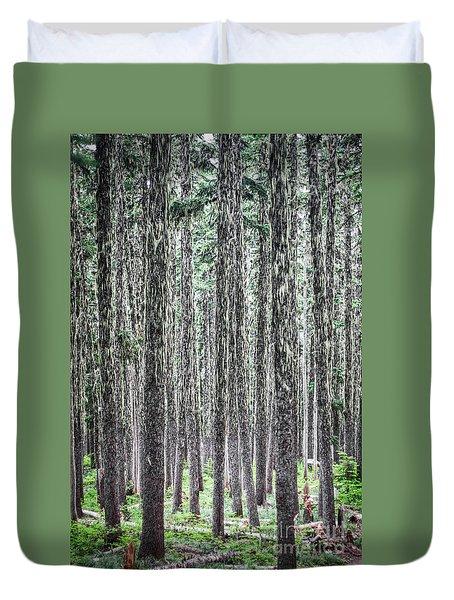 Hairy Forest Duvet Cover
