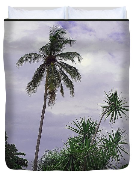 Haiti Where Are All The Trees Duvet Cover by B Wayne Mullins