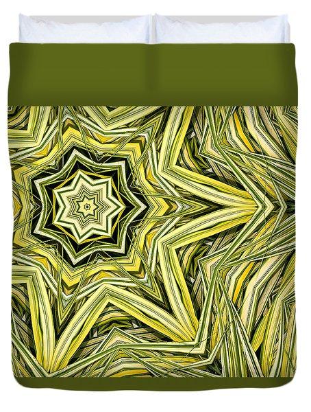 Duvet Cover featuring the digital art Hakone Grass Kaleido by Peter J Sucy