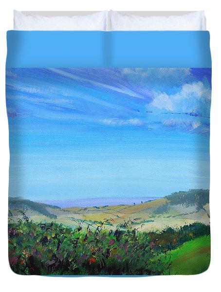 Haldon Hills Sea View Duvet Cover