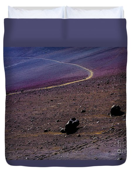Duvet Cover featuring the photograph Haleakala 2 by M G Whittingham