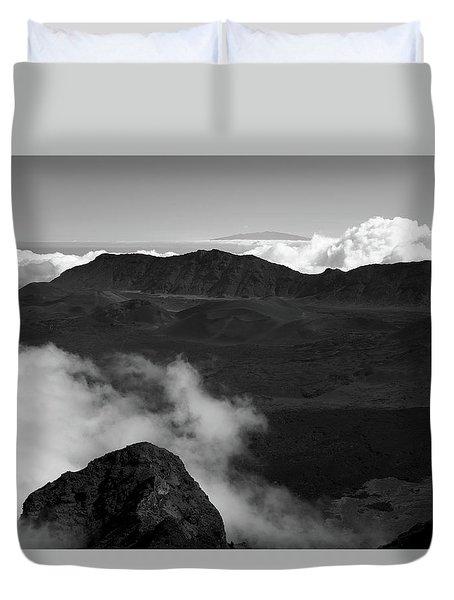 Haleakala B/w Duvet Cover
