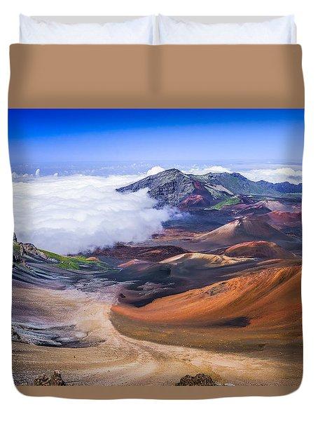 Haleakala Craters Maui Duvet Cover
