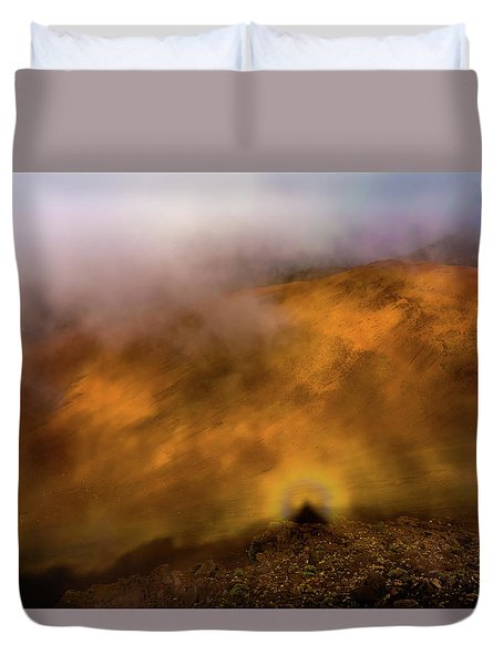 Duvet Cover featuring the photograph Haleakala Halo by M G Whittingham