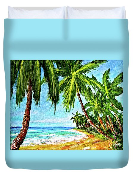 Haleiwa Beach #369 Duvet Cover by Donald k Hall
