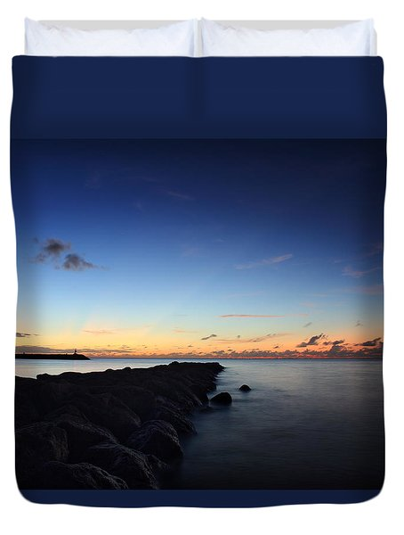 Hale'iwa Harbor Duvet Cover