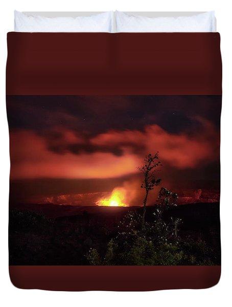 Halemaumau Crater Duvet Cover