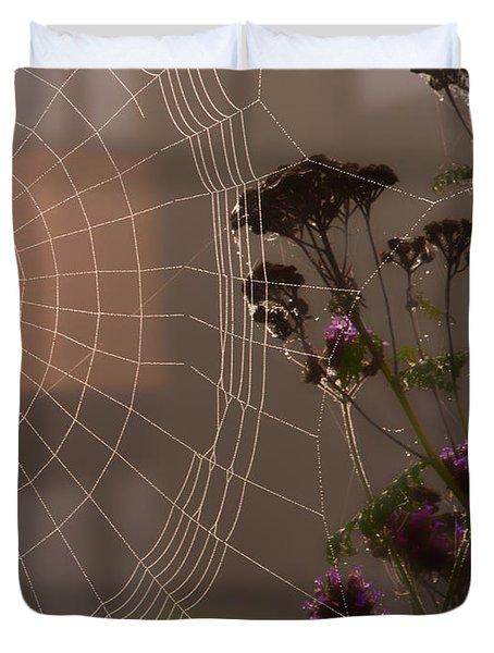 Half A Web Duvet Cover