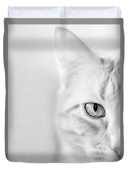 Half Cat Duvet Cover