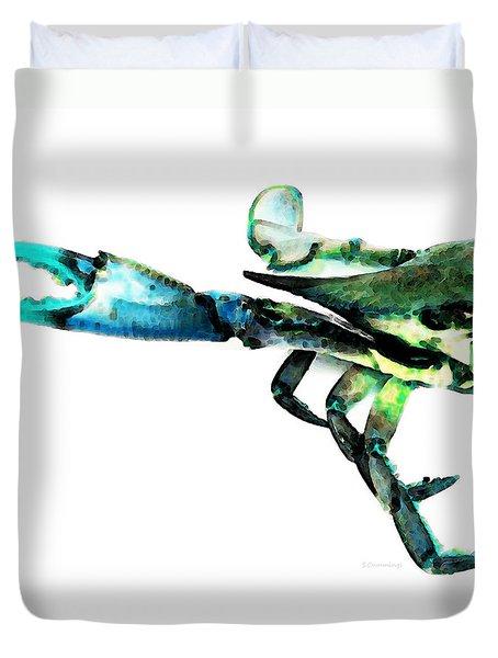 Half Crab - The Left Side Duvet Cover