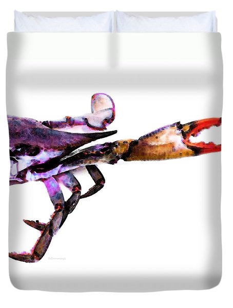 Half Crab - The Right Side Duvet Cover