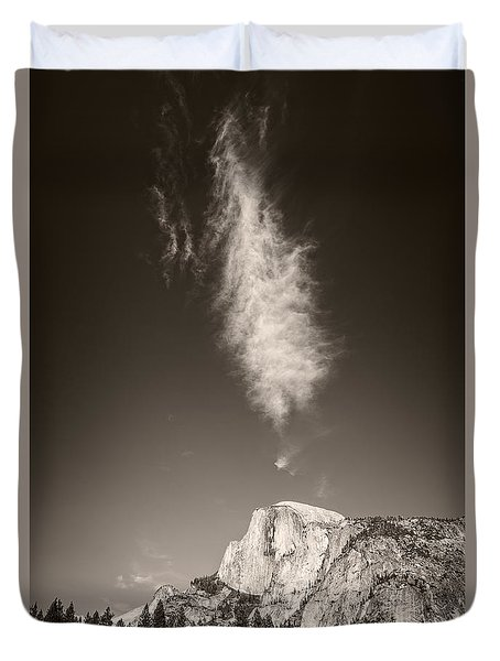 Half Dome And Cloud Duvet Cover