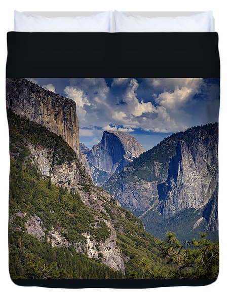 Half Dome And El Capitan Duvet Cover by Rick Berk