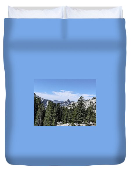 Half Dome From Olmstead Point Yosemite Valley Yosemite National Park Duvet Cover