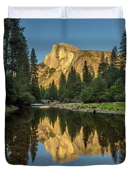 Half Dome From  The Merced Duvet Cover