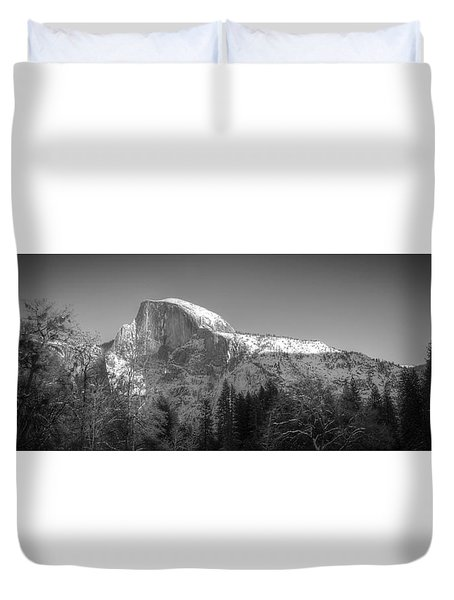 Half Dome In Winter Duvet Cover