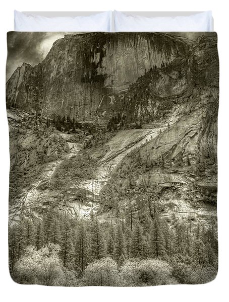 Half Dome Over Mirror Lake Duvet Cover