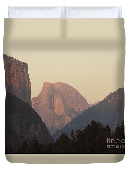 Half Dome Rising In Distance Duvet Cover