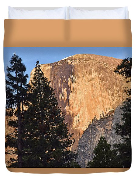Half Dome Sunset Duvet Cover