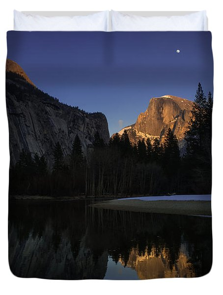 Half Dome, Twilight Duvet Cover