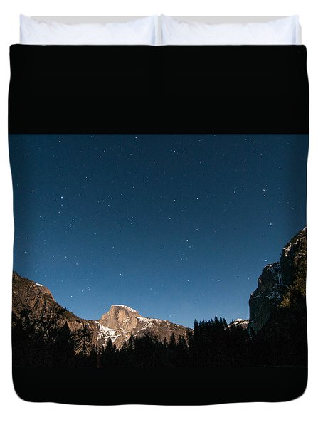 Half Dome Under The Stars Duvet Cover