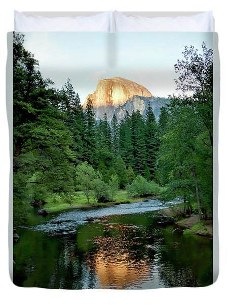 Half Dome Warmed By Setting Sun Duvet Cover