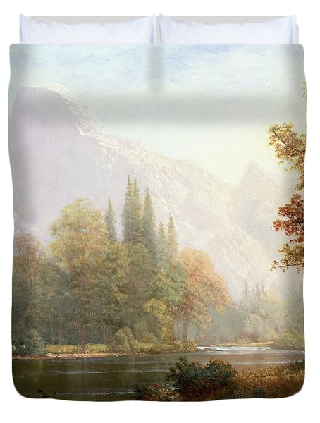 Half Dome Yosemite Duvet Cover by Albert Bierstadt