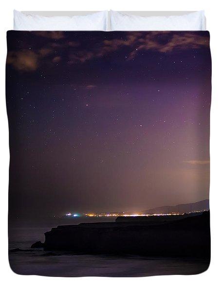 Half Moon Bay Aglow Duvet Cover