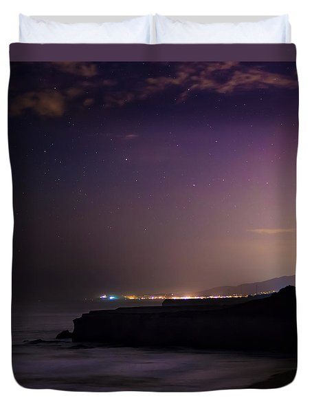 Half Moon Bay Aglow Duvet Cover