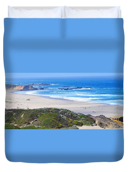 Half Moon Bay Duvet Cover by Holly Blunkall