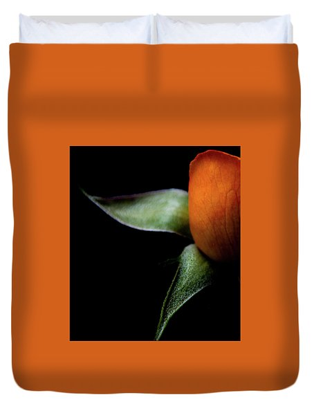Duvet Cover featuring the photograph Half Of A Rose by Julie Palencia