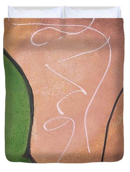 Half Pear Still Life Abstract Art By Saribelleinspirationalart Duvet Cover