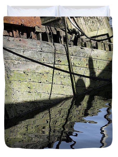 Half Sunk Boat Duvet Cover