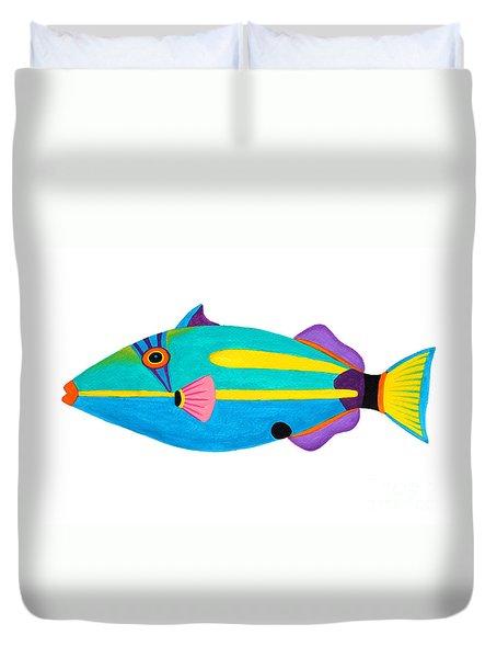 Halfmoon Triggerfish  Duvet Cover by Opas Chotiphantawanon